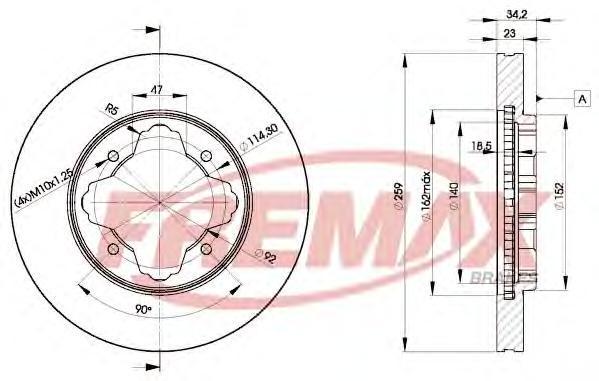 Диск тормозной Fremax, 2 шт. BD-0836BD-0836