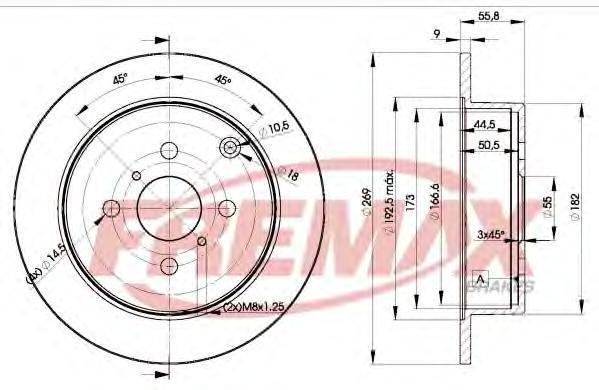 Диск тормозной Fremax, 2 шт. BD-1221BD-1221