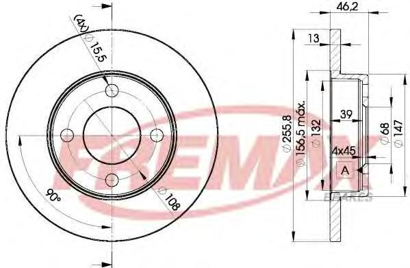 Диск тормозной Fremax, 2 шт. BD-3632BD-3632
