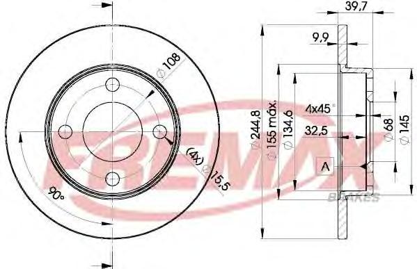 Диск тормозной Fremax, 2 шт. BD-3636BD-3636