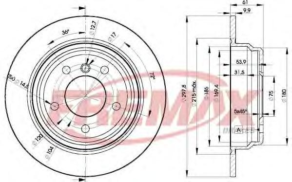 Диск тормозной Fremax, 2 шт. BD-4129BD-4129