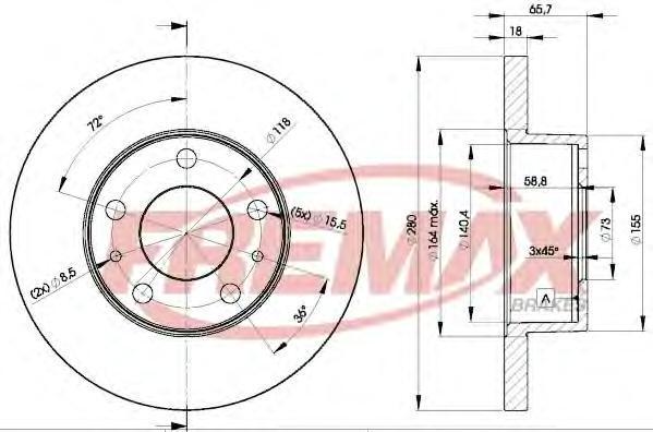 Диск тормозной Fremax, 2 шт. BD-4680BD-4680