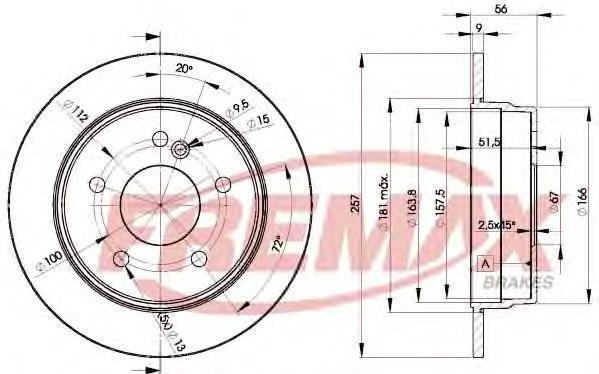 Диск тормозной Fremax, 2 шт. BD-3181BD-3181