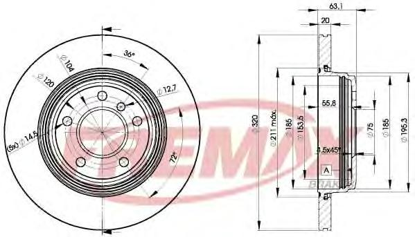 Диск тормозной Fremax, 2 шт. BD-3215BD-3215