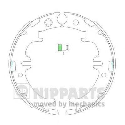 Колодки тормозные дисковые Nipparts, комплект. N3502083N3502083
