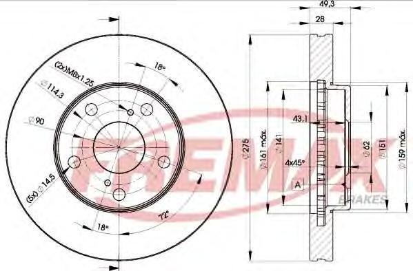 Диск тормозной Fremax, 2 шт. BD-3304BD-3304