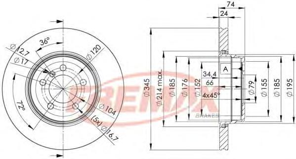 Диск тормозной Fremax, 2 шт. BD-3409BD-3409
