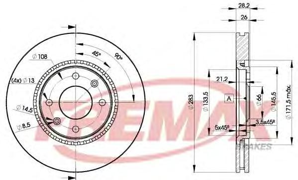 Диск тормозной Fremax, 2 шт. BD-7406BD-7406