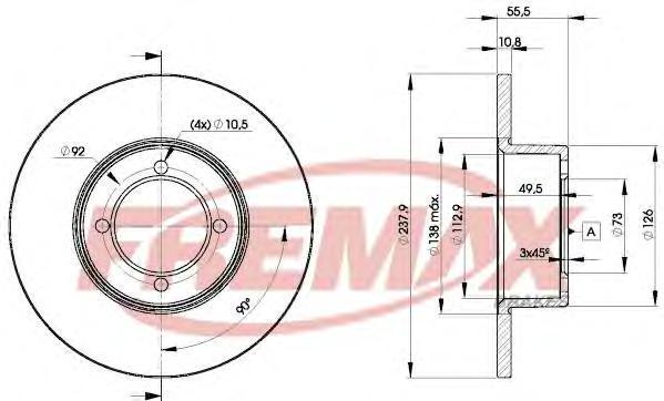 Диск тормозной Fremax, 2 шт. BD-7739BD-7739