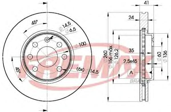 Диск тормозной Fremax, 2 шт. BD-9000BD-9000