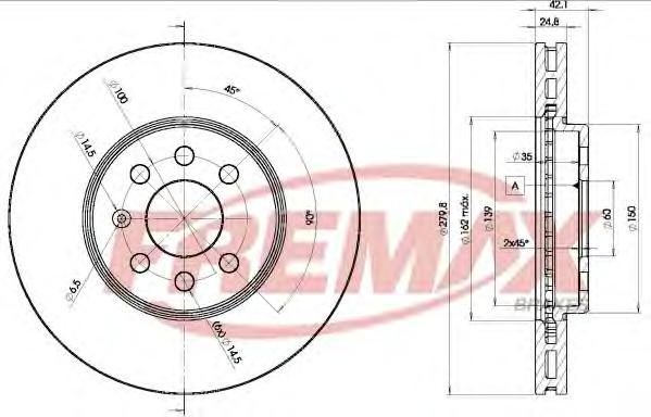 Диск тормозной Fremax, 2 шт. BD-9001BD-9001