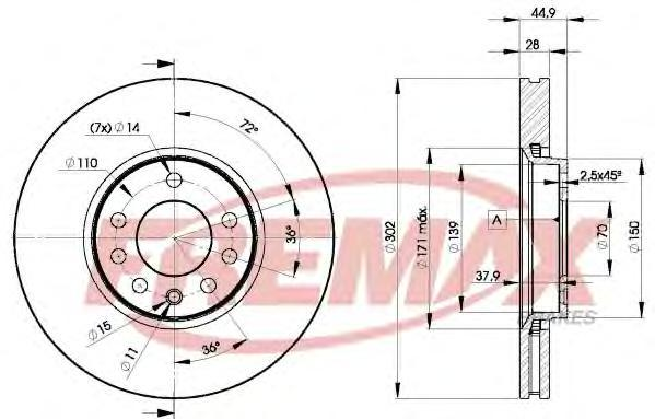 Диск тормозной Fremax, 2 шт. BD-9004BD-9004