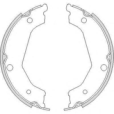 Колодки тормозные дисковые Remsa, комплект. 473200473200