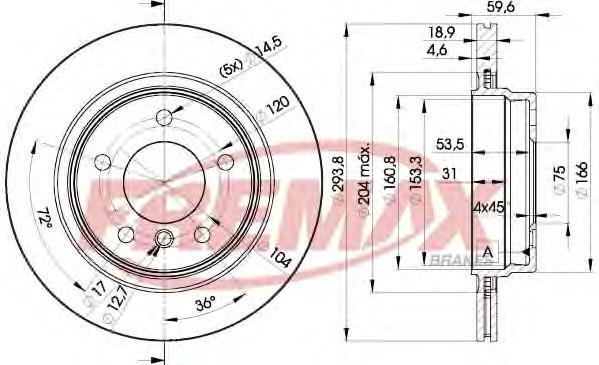 Диск тормозной Fremax, 2 шт. BD-5563BD-5563
