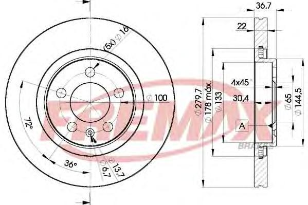 Диск тормозной Fremax, 2 шт. BD-5603BD-5603
