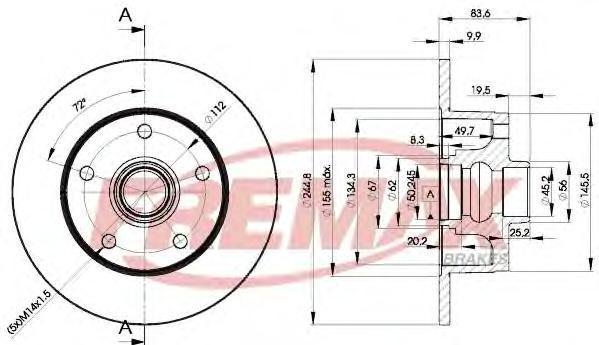 Диск тормозной Fremax. BD-5606BD-5606