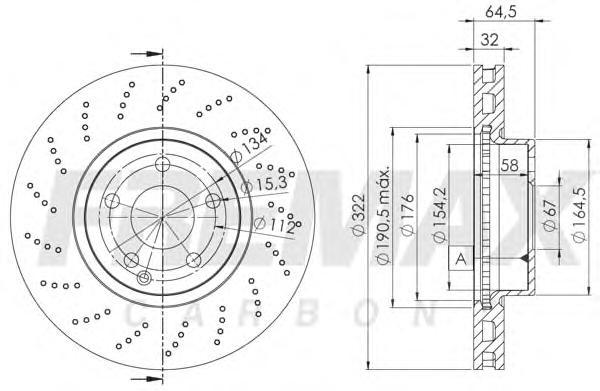 Диск тормозной Fremax, 2 шт. BD-6472BD-6472