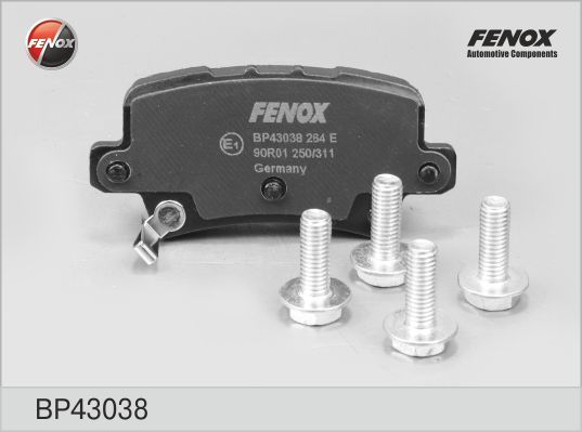 Колодки тормозные дисковые Fenox. BP43038BP43038