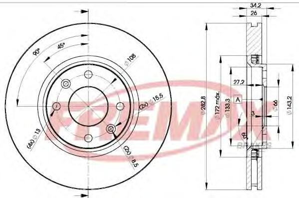 Диск тормозной Fremax, 2 шт. BD-4752BD-4752