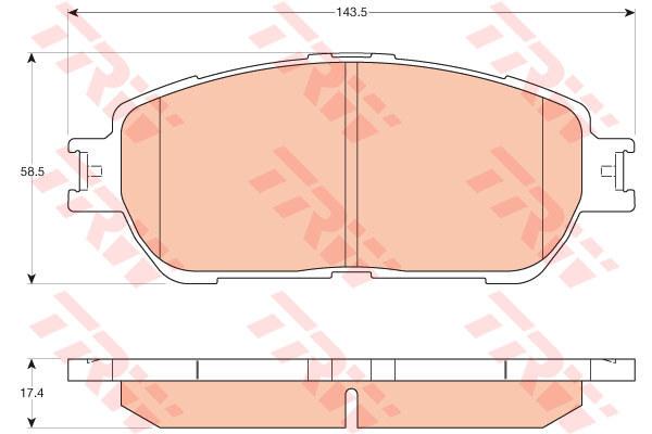 Колодки тормозные дисковые TRW, передние. GDB3612GDB3612