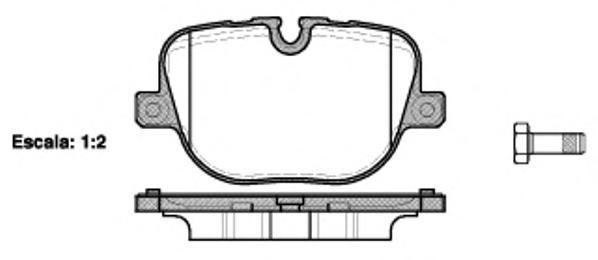 Колодки тормозные дисковые Remsa, комплект. 140800140800