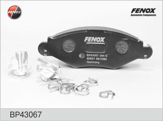 Колодки тормозные дисковые Fenox. BP43067BP43067