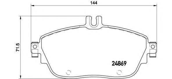 Колодки тормозные дисковые Brembo. P50093P50093