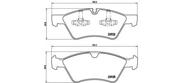 Колодки тормозные дисковые Brembo, передние. P50063P50063