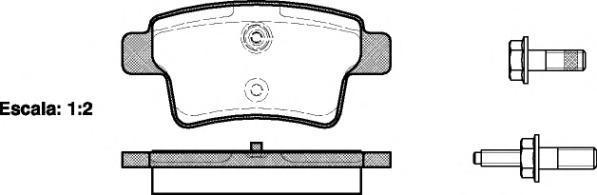 Колодки тормозные дисковые Remsa, комплект. 124100124100