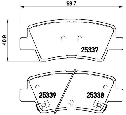 Колодки тормозные дисковые Brembo. P30067P30067
