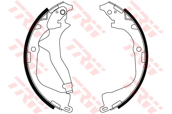 Колодки тормозные барабанные TRW, задние. GS8800GS8800