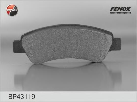 Колодки тормозные дисковые Fenox. BP43119BP43119