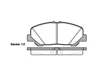 Колодки тормозные дисковые Remsa, комплект. 128700128700