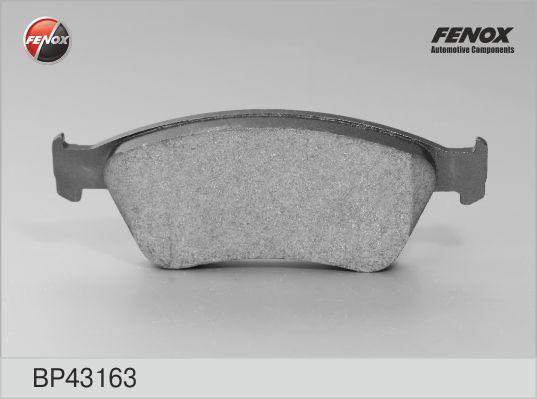 Колодки тормозные дисковые Fenox. BP43163BP43163