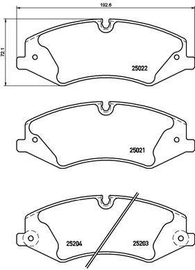 Колодки тормозные дисковые Brembo. P44022P44022