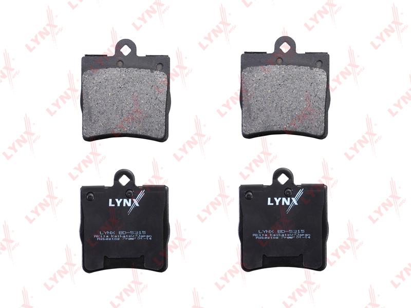 Колодки тормозные дисковые Lynx, задние. BD-5315BD-5315