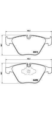 Колодки тормозные дисковые Brembo, комплект. P06055P06055