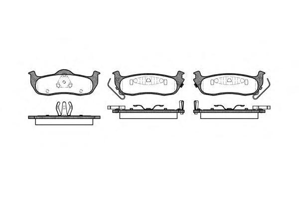 Колодки тормозные дисковые Remsa, комплект. 110602110602