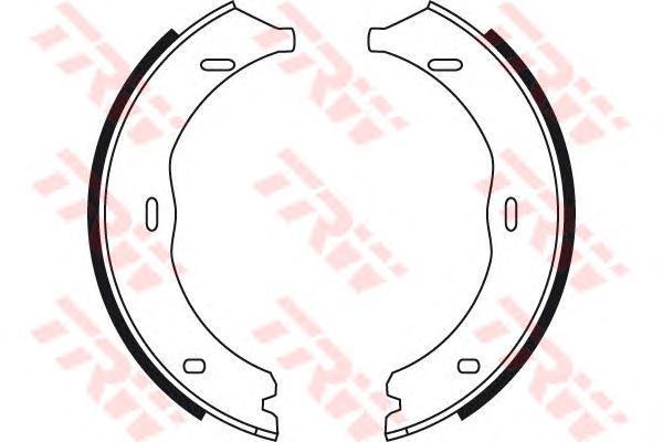 Колодки тормозные барабанные TRW. GS8741GS8741