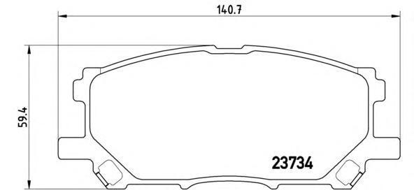 Колодки тормозные дисковые Brembo, передние, комплект. P83067P83067