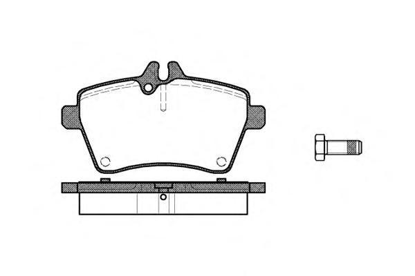 Колодки тормозные дисковые Remsa, комплект. 114400114400