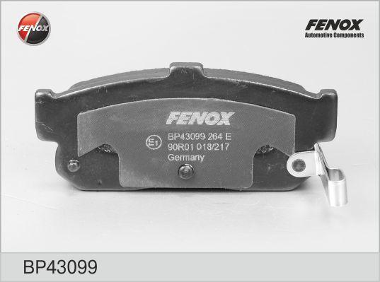 Колодки тормозные дисковые Fenox. BP43099BP43099