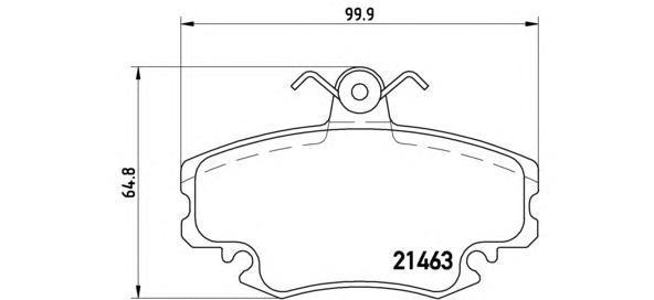 Колодки тормозные дисковые Brembo, передние, комплект. P68038P68038