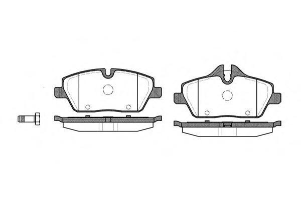 Колодки тормозные дисковые Remsa, комплект. 113100113100