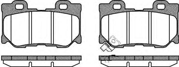 Колодки тормозные дисковые Remsa, комплект. 136501136501