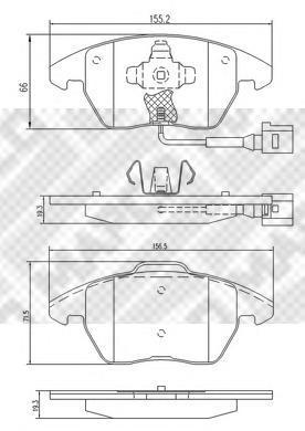 Колодки тормозные дисковые Mapco, комплект. 66956695