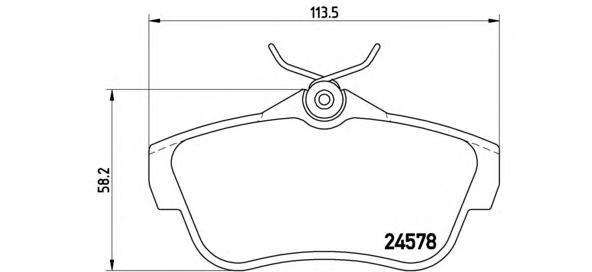 Комплект тормозных колодок Brembo, задние, комплект. P61095P61095