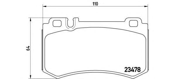 Комплект тормозных колодок Brembo, задние, комплект. P50061P50061