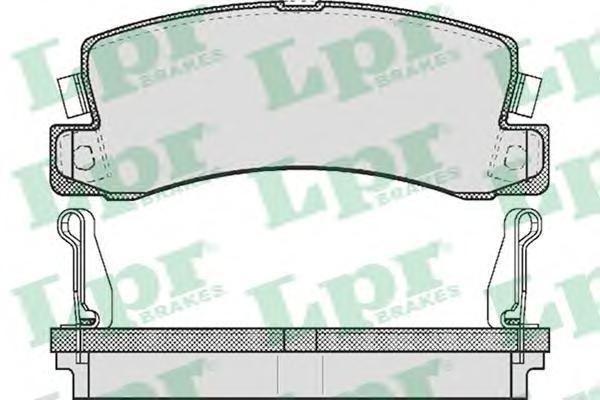Колодки тормозные дисковые LPR / AP. 05P51405P514