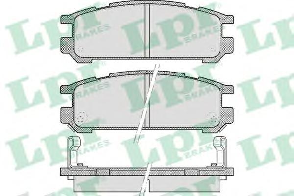 Колодки тормозные дисковые LPR / AP. 05P51705P517